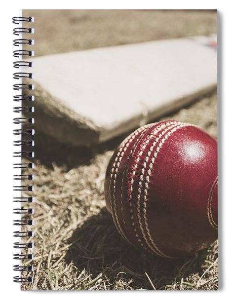 Antique Cricket Test Match Spiral Notebook