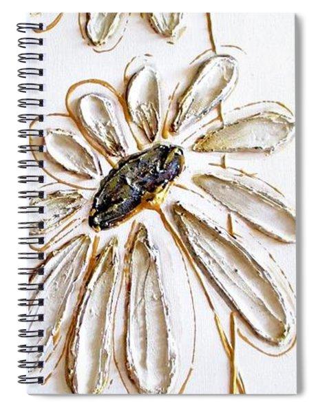 Antique Daisies Spiral Notebook