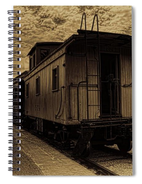 Antique Iron Range Caboose Spiral Notebook