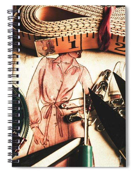 Antique Needlework Spiral Notebook