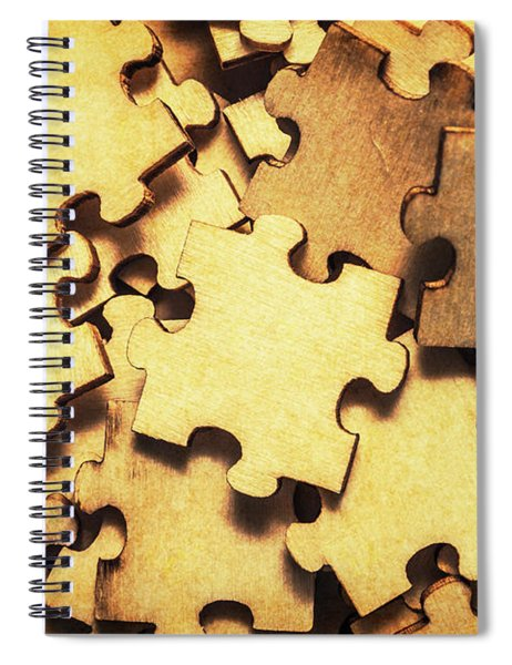 Antique Puzzle Of Missing Links Spiral Notebook