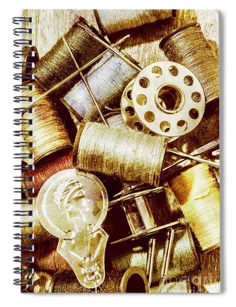 Antique Sewing Artwork Spiral Notebook