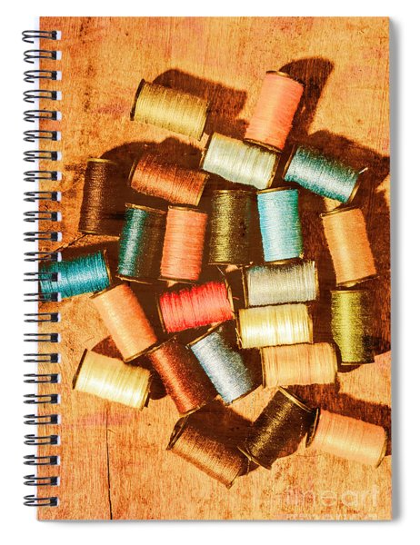 Antique Spools And Thread Spiral Notebook