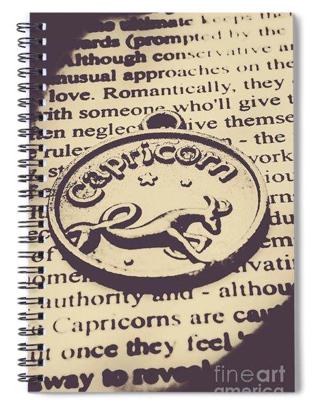 Antique Stars Of Capricorn Spiral Notebook
