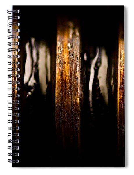 Antique Vise Worm Gear Spiral Notebook