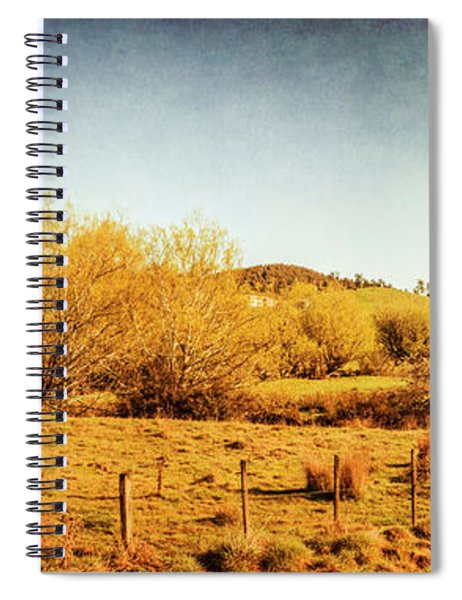 Antique Weathered Countryside Spiral Notebook