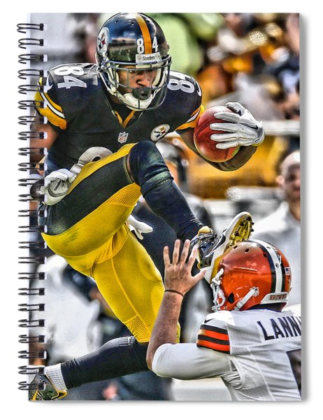 Antonio Brown Steelers Art 5 Spiral Notebook