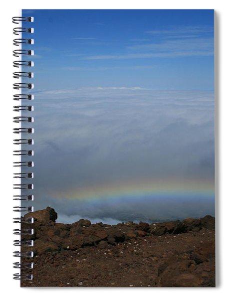 Anuenue - Rainbow At The Ahinahina Ahu Haleakala Sunrise Maui Hawaii Spiral Notebook