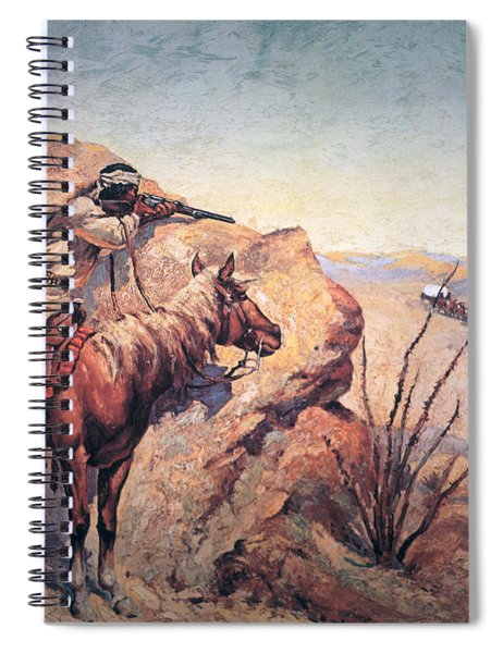 Apache Ambush Spiral Notebook by Frederic Remington