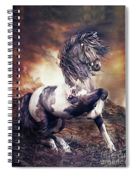 Apache War Horse Spiral Notebook