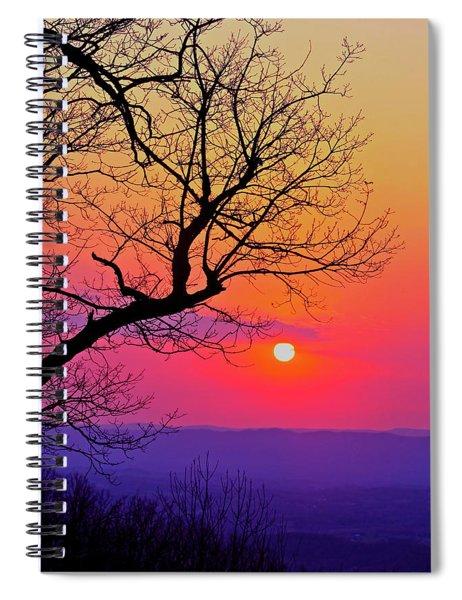 Appalcahian Sunset Tree Silhouette #2 Spiral Notebook