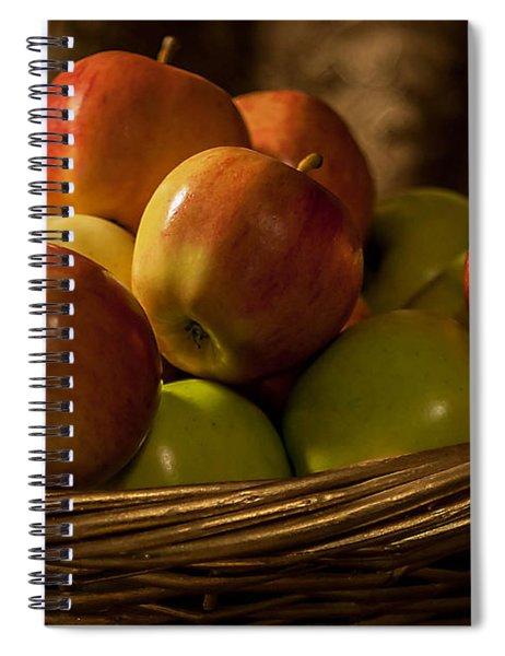 Apple Basket Spiral Notebook