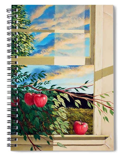 Apple Tree Overflowing Spiral Notebook