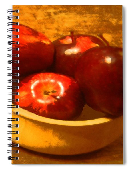 Apples In A Bowl Spiral Notebook