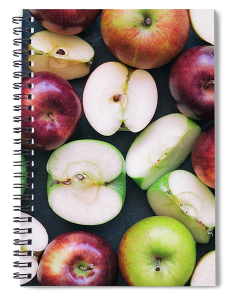 Spiral Notebook featuring the photograph Apples by Tim Gainey