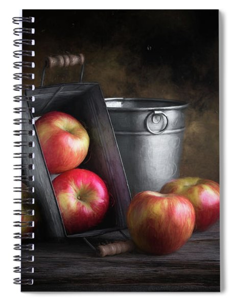 Apples With Metalware Spiral Notebook