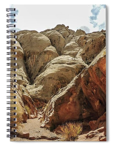 Approaching Narrows Of Bell Slot Canyon Spiral Notebook