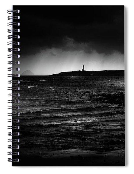 Approaching Storm, Ailsa Craig And Pladda Island Spiral Notebook