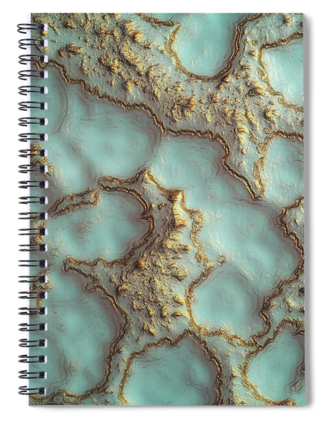 Aqua Coral Reef Abstract Spiral Notebook