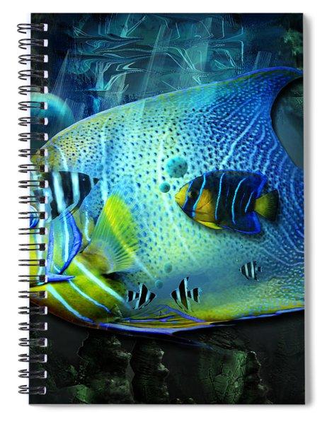 Aqua Fantasy Art World Spiral Notebook