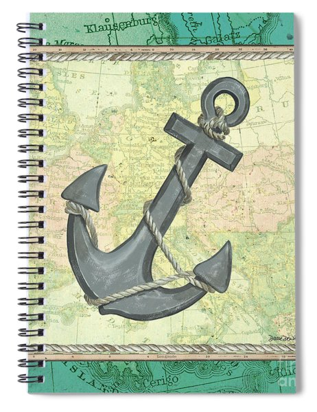 Aqua Maritime Anchor Spiral Notebook