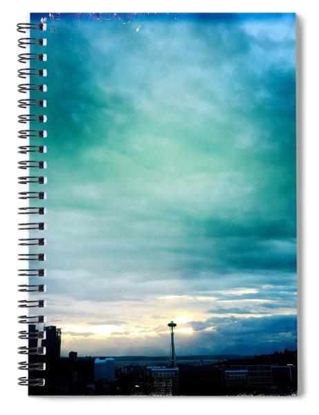 Aqua Needle Spiral Notebook
