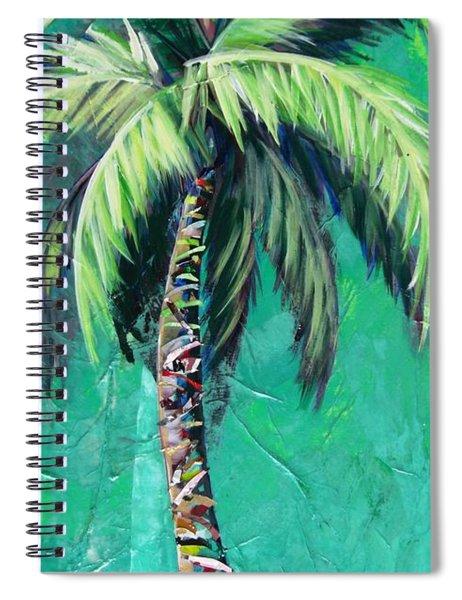 Aqua Palm Spiral Notebook