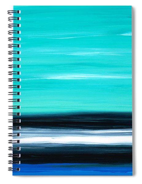 Aqua Sky - Bold Abstract Landscape Art Spiral Notebook