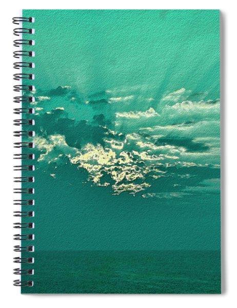 Aqua Sunset Spiral Notebook