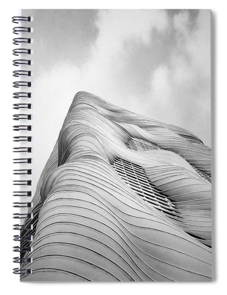 Aqua Tower Spiral Notebook