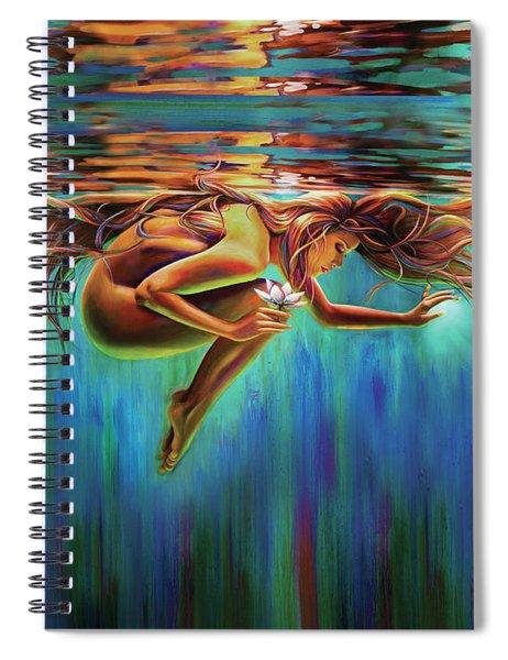Aquarian Rebirth II Divine Feminine Consciousness Awakening Spiral Notebook