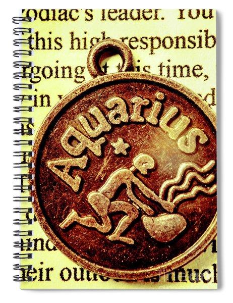 Aquarius Zodiac Sign Spiral Notebook