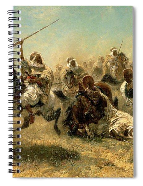Arab Horsemen On The Attack Spiral Notebook