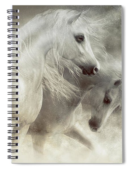 Arabian Horses Sandstorm Spiral Notebook