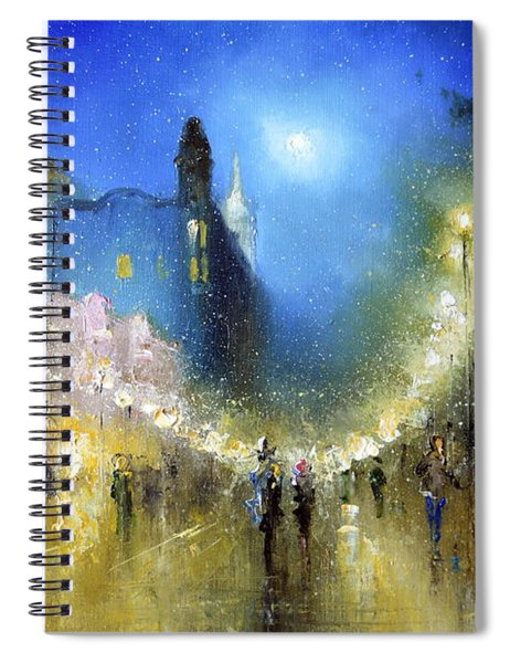 Arbat Night Lights Spiral Notebook