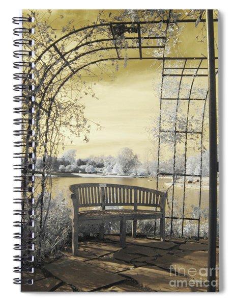 Arboretum Trellis Bench Spiral Notebook