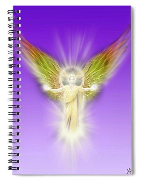 Archangel Gabriel - Pastel Spiral Notebook
