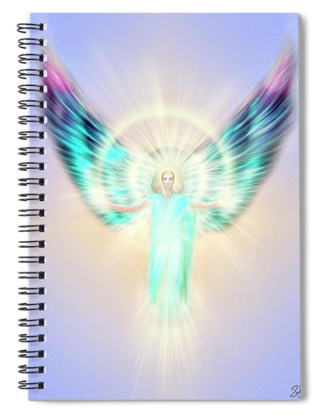 Archangel Uriel - Pastel Spiral Notebook