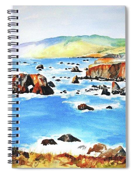 Arched Rock Sonoma Coast California Spiral Notebook