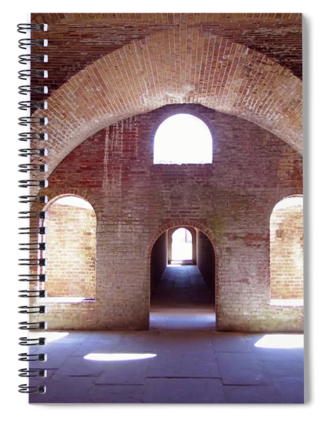 Arches Of Sunshine Spiral Notebook
