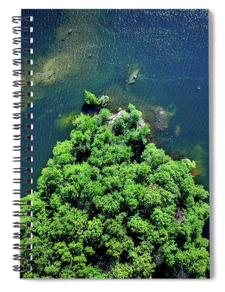 Archipelago Island - Aerial Photography Spiral Notebook
