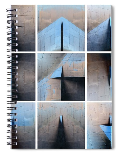 Architectural Reflections Nine-print Panel Spiral Notebook