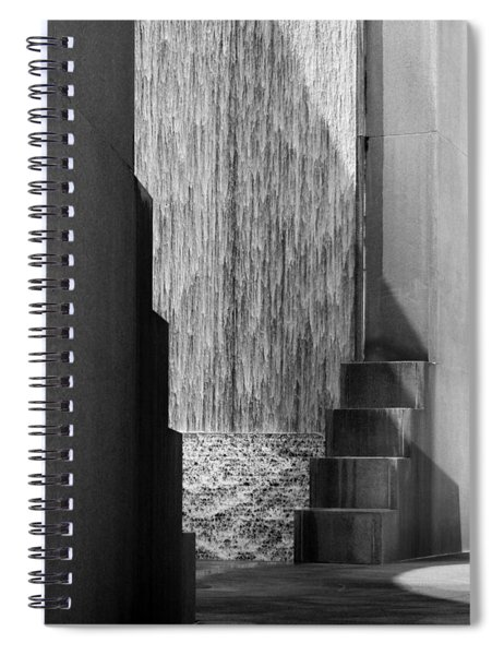 Architectural Waterfall In Black And White Spiral Notebook