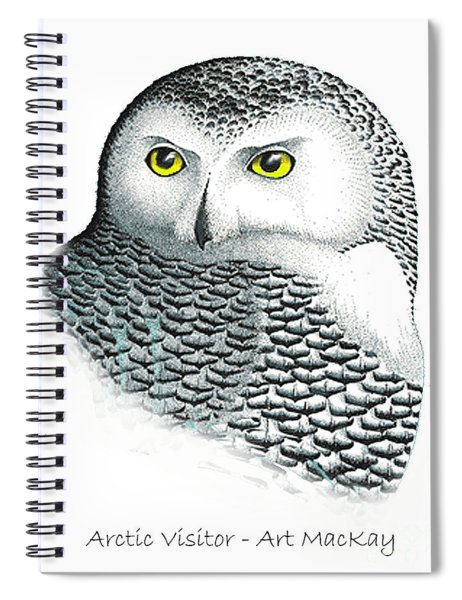 Arctic Visitor Spiral Notebook