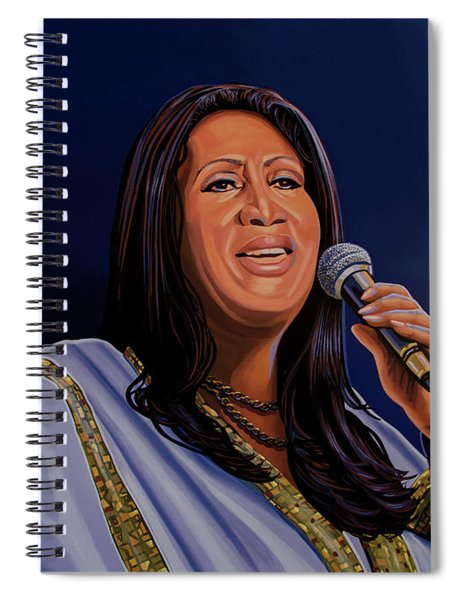 Aretha Franklin Painting Spiral Notebook