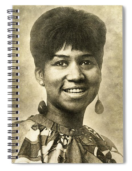 Aretha Franklin Queen Of Soul Spiral Notebook