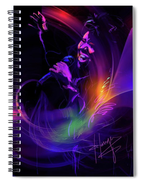 Aretha Franklin, Queen Of Soul Spiral Notebook