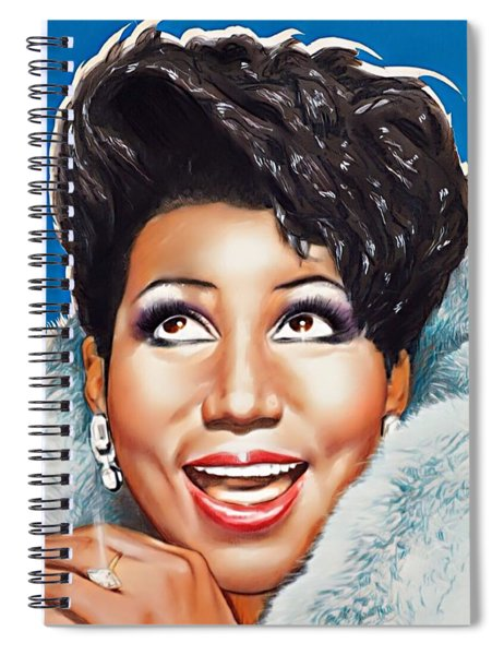 Aretha Queen Of Soul Spiral Notebook