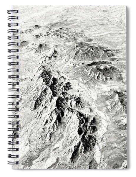 Arizona Desert In Black And White Spiral Notebook