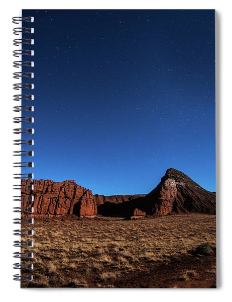 Arizona Landscape At Night Spiral Notebook